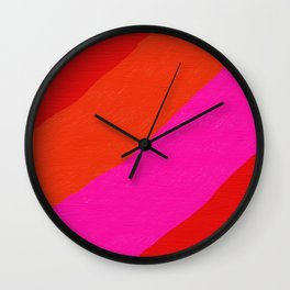 Red, Pink And Orange Wall Clock