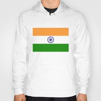 islam Hoodies featuring Flag of India - High quality authentic HD version by Bruce Stanfield