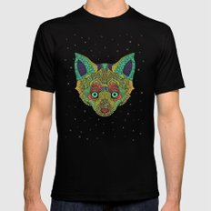 Intergalactic Fox Black Mens Fitted Tee SMALL