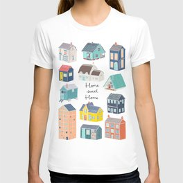 Home Sweet Home - Little Houses Print T-shirt