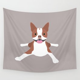 red boston terrier Wall Tapestry