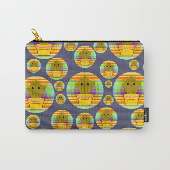 Colorful cacti Carry-All Pouch