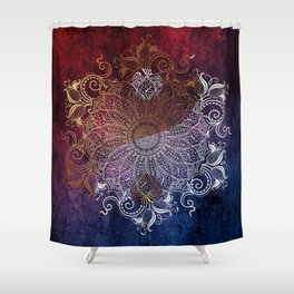 Yang fire & ice Shower Curtain