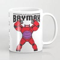 8bit Mugs featuring BAYMAX (8BIT) by Akiwa