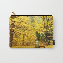 Tardis In The Forest Autumn Carry-All Pouch
