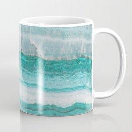 Aqua Striped Quartz Crystal Coffee Mug