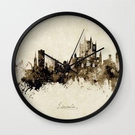 Lincoln England Skyline Wall Clock