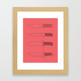 Staring daggers Framed Art Print