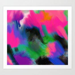 Digital abstract artwork Art Print