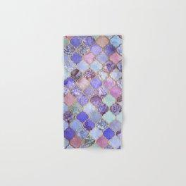 Royal Purple, Mauve & Indigo Decorative Moroccan Tile Pattern Hand & Bath Towel