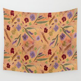 Coral Garden Meadow Wall Tapestry