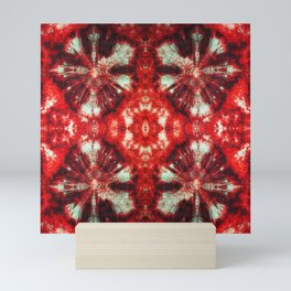 kaleidoscope tie-dye ancient resist-dyeing techniques textile Mini Art Print