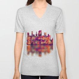 Brooklyn New York Skyline Unisex V-Neck