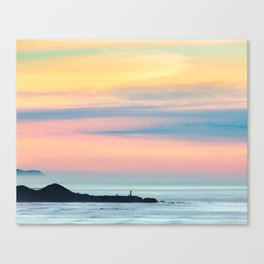 Sunset Overlooking the Yaquina Head Lighthouse Canvas Print
