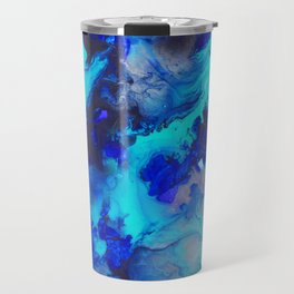 Blue Fluid Motion - by Jenny Bagwill Travel Mug