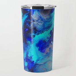 Blue Fluid Motion - by Jenny Bagwill Travel Mug