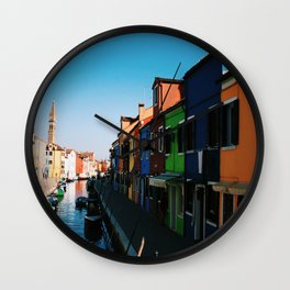 Venice Print Set, Venice Wall Art, Italy Photography Gallery Wall, Europe Wall Art, Europe Decor 5x5 Wall Clock