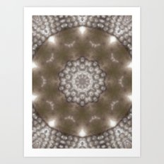 Silver and gold CB Art Print