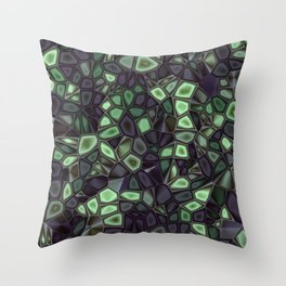 Fractal Gems 04 - Emerald Dreams Throw Pillow