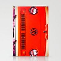 volkswagon Stationery Cards featuring  Volkswagon Bug Van by Lavender~Ramonde
