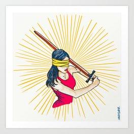 Badass Justice Art Print