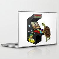 ninja turtle Laptop & iPad Skins featuring Arcade Ninja Turtle by Michowl