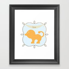 Fun at the Zoo: Lion Framed Art Print