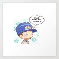 kpop Art Prints featuring Kpop UNIQ Seungyoun BD-01 by Rei Lydia