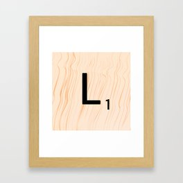 Scrabble Letter L - Large Scrabble Tiles Framed Art Print