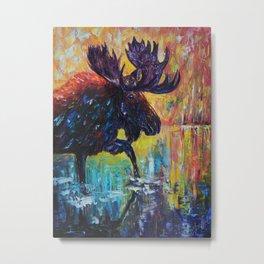 Moose by OLena Art Metal Print