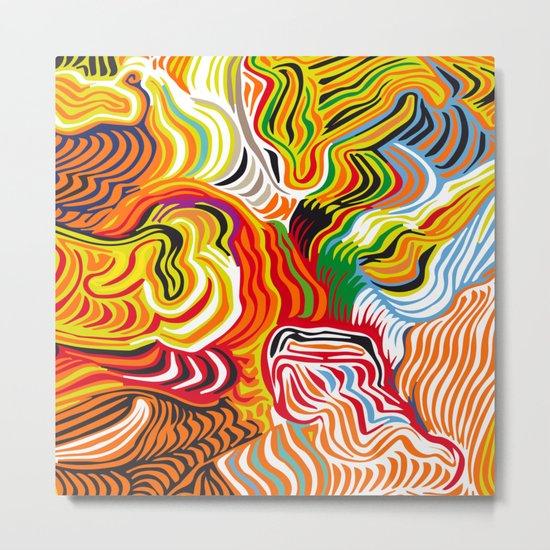 colored flow Metal Print