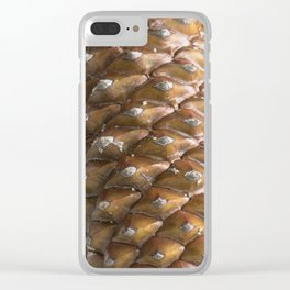 Pinecones Clear iPhone Case