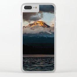 Mt. Hood at Sunset Clear iPhone Case
