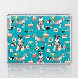 schnauzer sushi dog breed pet pattern dog mom Laptop & iPad Skin