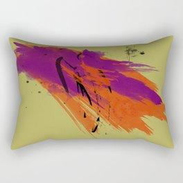 Legends, Abstract Watercolor Brushstrokes Rectangular Pillow