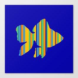 Goldfish Stripes Canvas Print