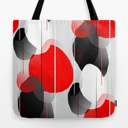 Modern Anxiety Abstract - Red, Black, Gray Tote Bag