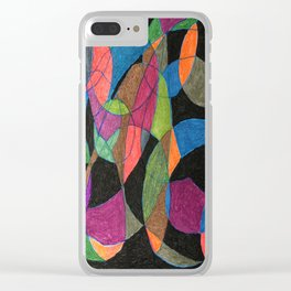 Intertwining Circles Clear iPhone Case