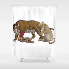 Trash Trio Shower Curtain