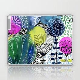 Indigo Blooms Laptop & iPad Skin