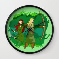 legolas Wall Clocks featuring Legolas by hikary
