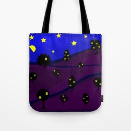 Starry Tree Village Tote Bag