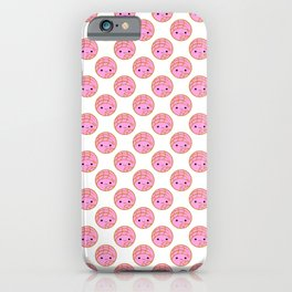 Pink Concha Pan Dulce Pattern (Mexican Sweet Bread) iPhone Case