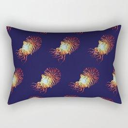Blue Nautilus pattern Rectangular Pillow