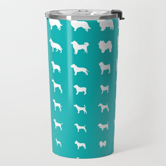 All Dogs (Aqua) Travel Mug
