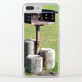BBQ In Park Clear iPhone Case