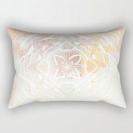 Wild white mandala on pink Rectangular Pillow