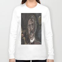 edgar allen poe Long Sleeve T-shirts featuring Edgar Allen Poe by Maurissa Vigil