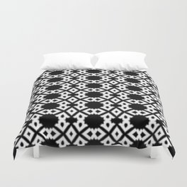 Repeating Circles Black and White Duvet Cover