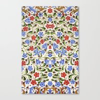 medieval Canvas Prints featuring Medieval Floral by Diana Kryski